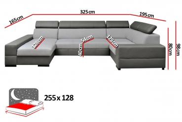 Couch u form maße  COUCHDISCOUNTER - Qualität, Auswahl, Service und günstige Preise