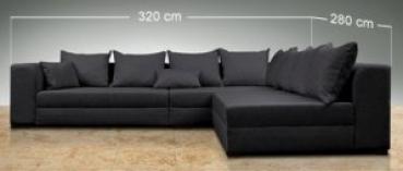 Design Riesen Wohnlandschaft Big Sofa XXL Modell