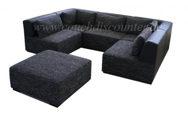 Couchgarnitur sofa wohnlandschaft verstellbar in for Wohnlandschaft verstellbar