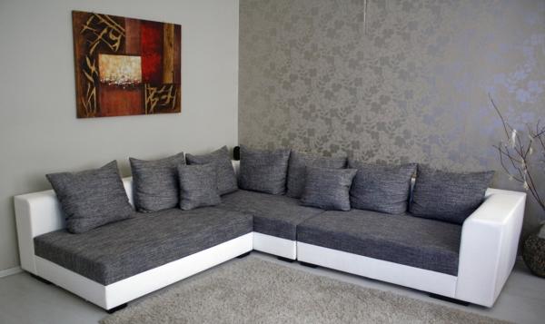 riesen design wohnlandschaft big sofa couchgarnitur l couch ecksofa neu ovp ebay. Black Bedroom Furniture Sets. Home Design Ideas