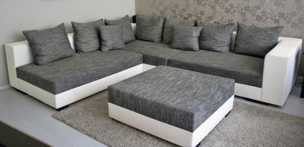 riesen wohnlandschaft sofa couchgarnitur l couch neu ebay. Black Bedroom Furniture Sets. Home Design Ideas