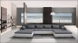 "Preview: EDLE DESIGN RIESEN WOHNLANDSCHAFT U-FORM MEGA BIG SOFA 410 cm ""Mondena XXL"""