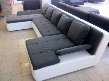 "EDLE DESIGN WOHNLANDSCHAFT U-FORM MEGA BIG SOFA U-COUCH 360 cm!  ""Mondena XL"" * NEU * TOP !"