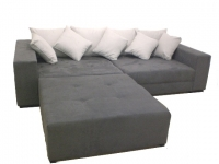 Big Sofa XXL inkl. Hocker Alcatex Grau